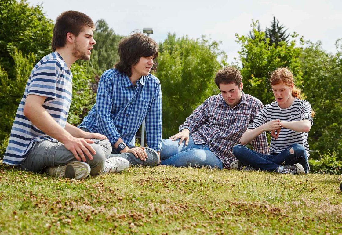 Ambitious About Autism College Programme group pupil image - supported by The Ellis Campbell Foundation