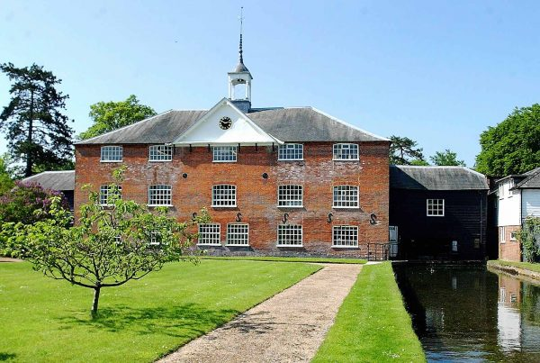 An image of the exterior of the Whitchurch Silk Mill representing the Whitchurch Silk Mill Apprenticeship Grant made by the Ellis Campbell Foundation helping disadvantaged young people in Hampshire, London and Perthshire