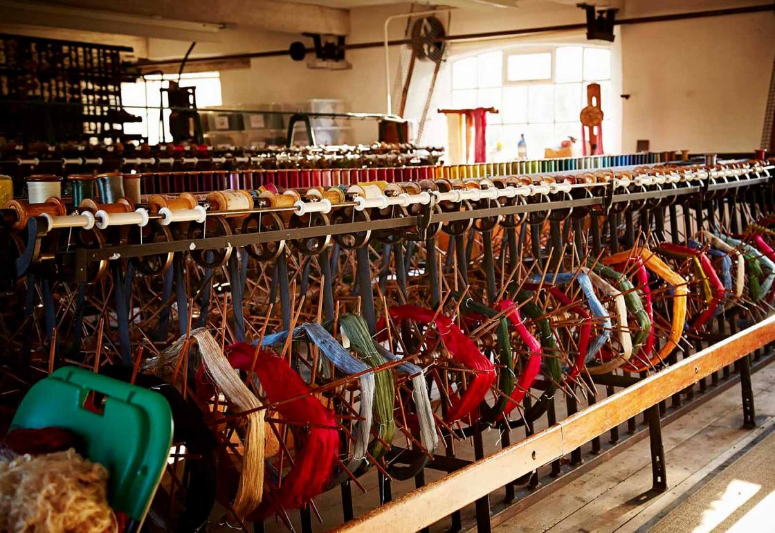 An image of a silk loom representing the Whitchurch Silk Mill Apprenticeship Grant made by the Ellis Campbell Foundation helping disadvantaged young people in Hampshire, London and Perthshire
