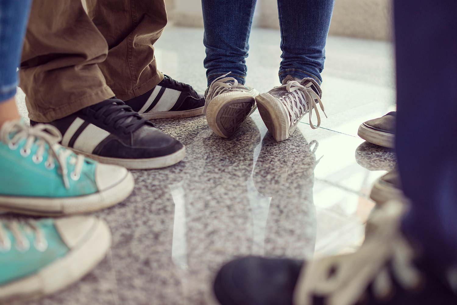 An image of young people footwear representing Clapham Common Boys Club supported by the Ellis Campbell Foundation