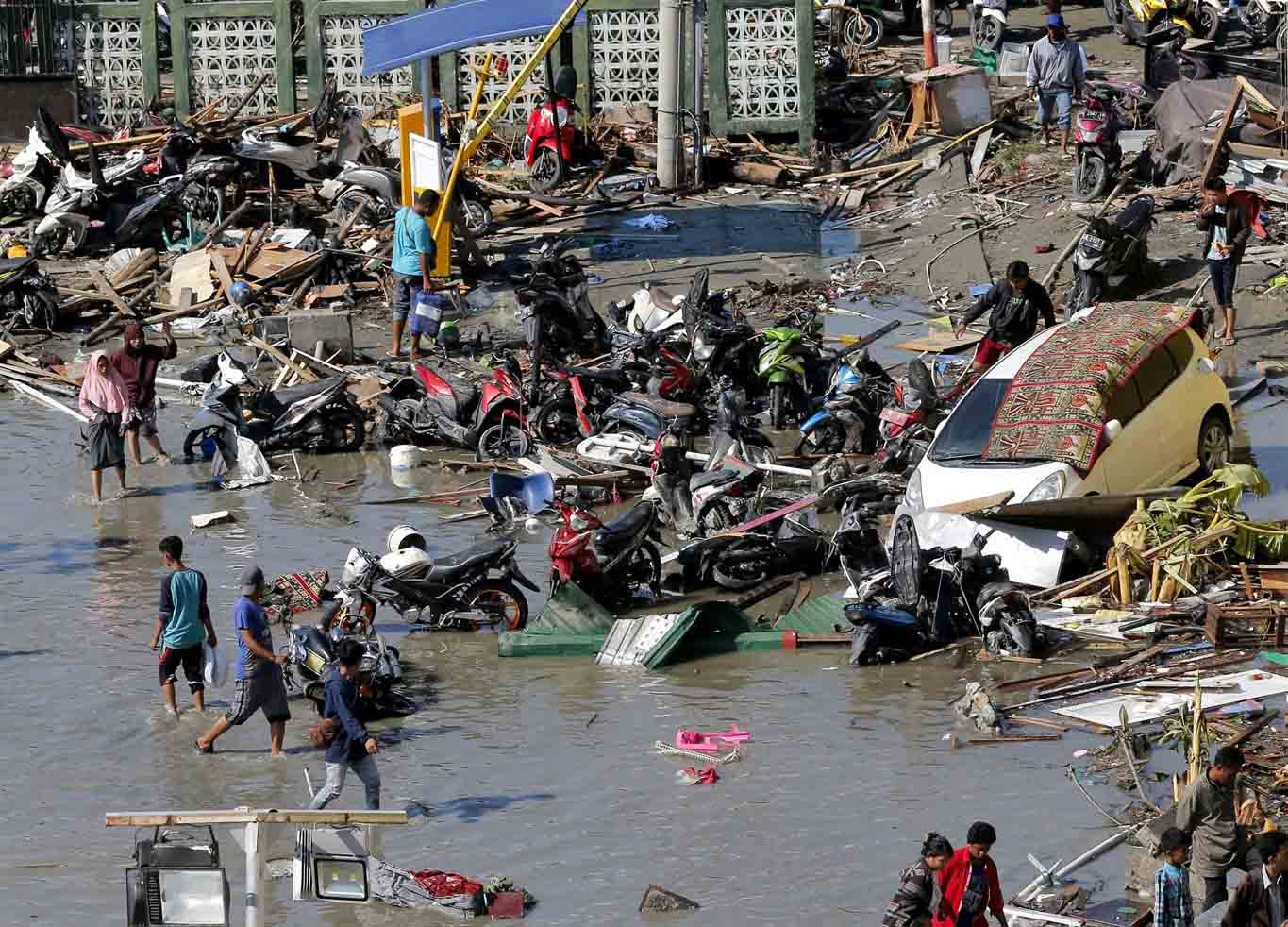 An image of the devastation and destruction caused by the Indonesian Tsunami September 2018 - A DEC Appeal supported by the Ellis Campbell Foundation