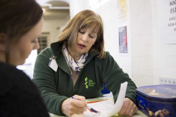 Getting Help from the Trussell Trust supported by the Ellis Campbell Foundation