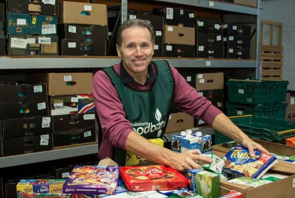 Volunteers sorting food at The Trussell Trust supported by the Ellis Campbell Foundation